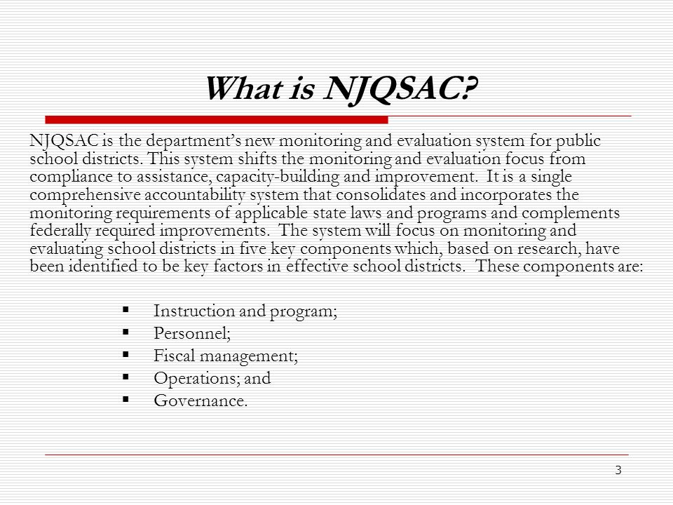 4 What is different about NJQSAC .