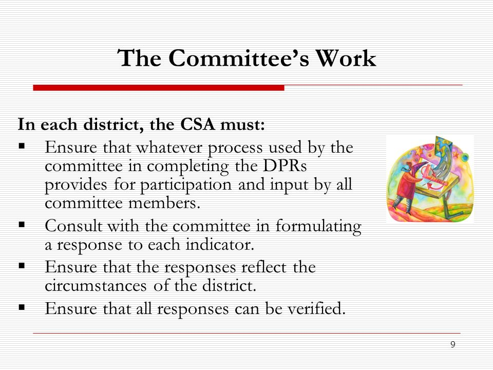 10 How does the committee work.
