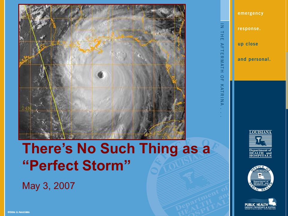 ©Sides & Associates Theres No Such Thing as a Perfect Storm May 3, 2007
