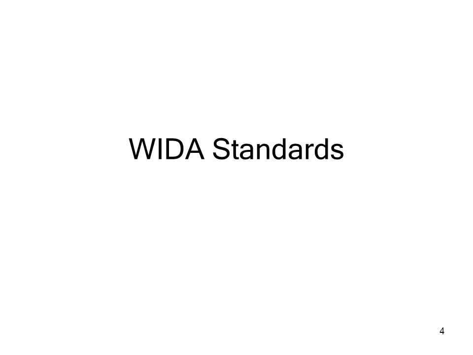 4 WIDA Standards