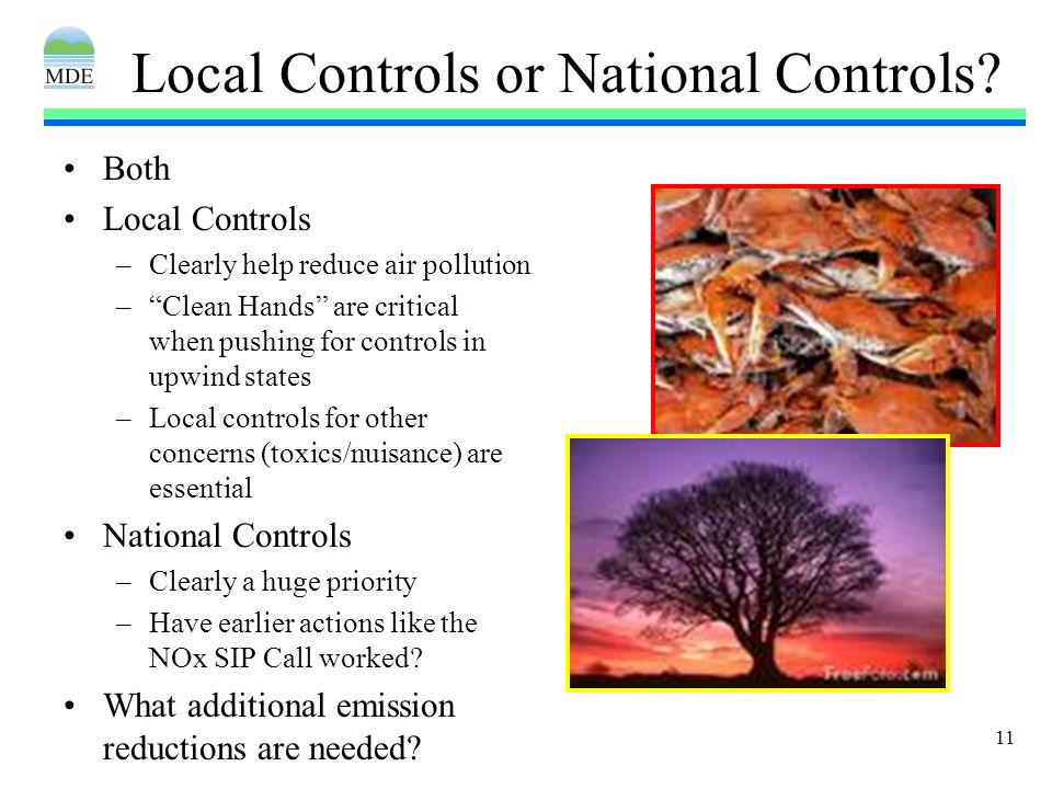 11 Local Controls or National Controls.