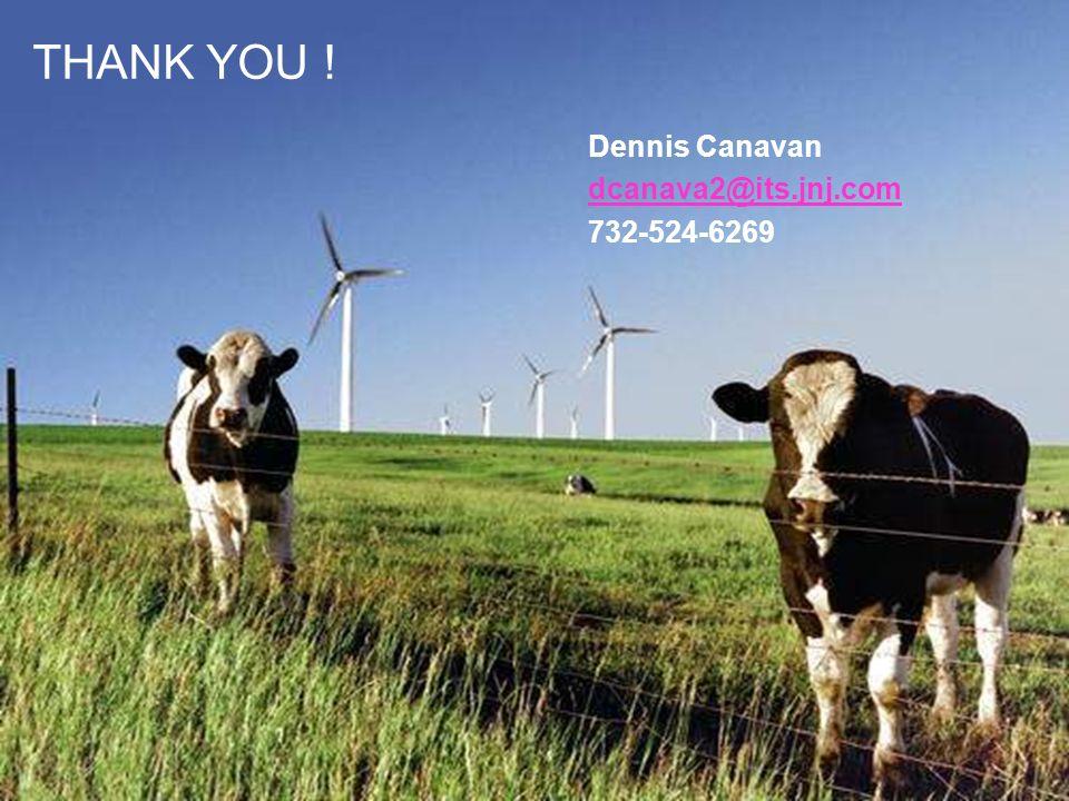 THANK YOU ! Dennis Canavan dcanava2@its.jnj.com 732-524-6269
