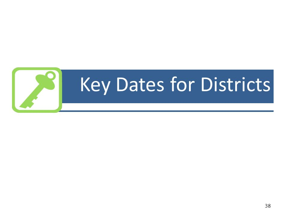 38 Key Dates for Districts