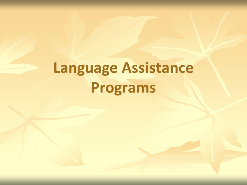 Language Assistance Programs