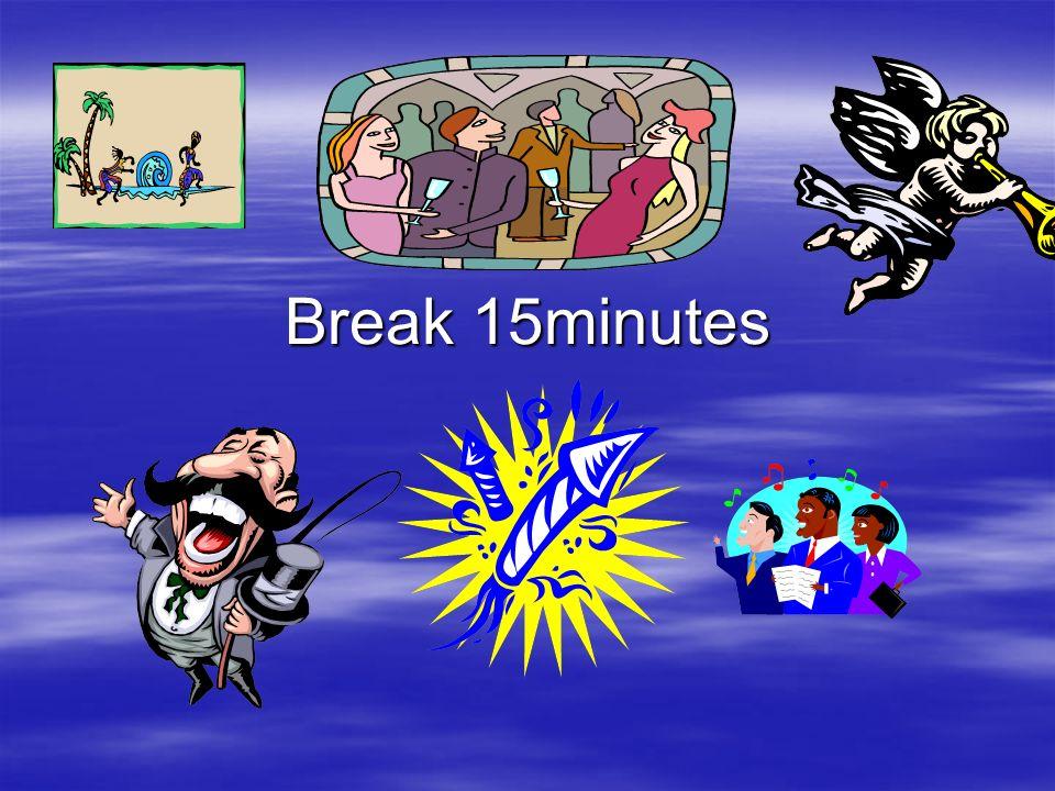 Break 15minutes
