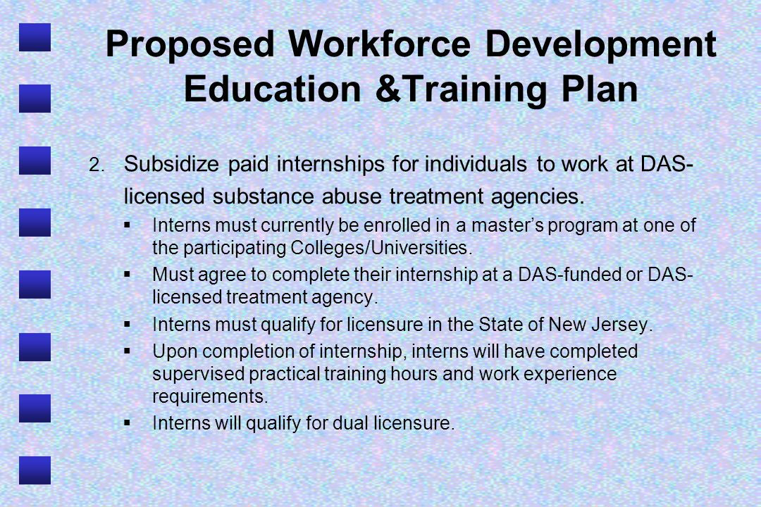 Proposed Workforce Development Education &Training Plan 2.