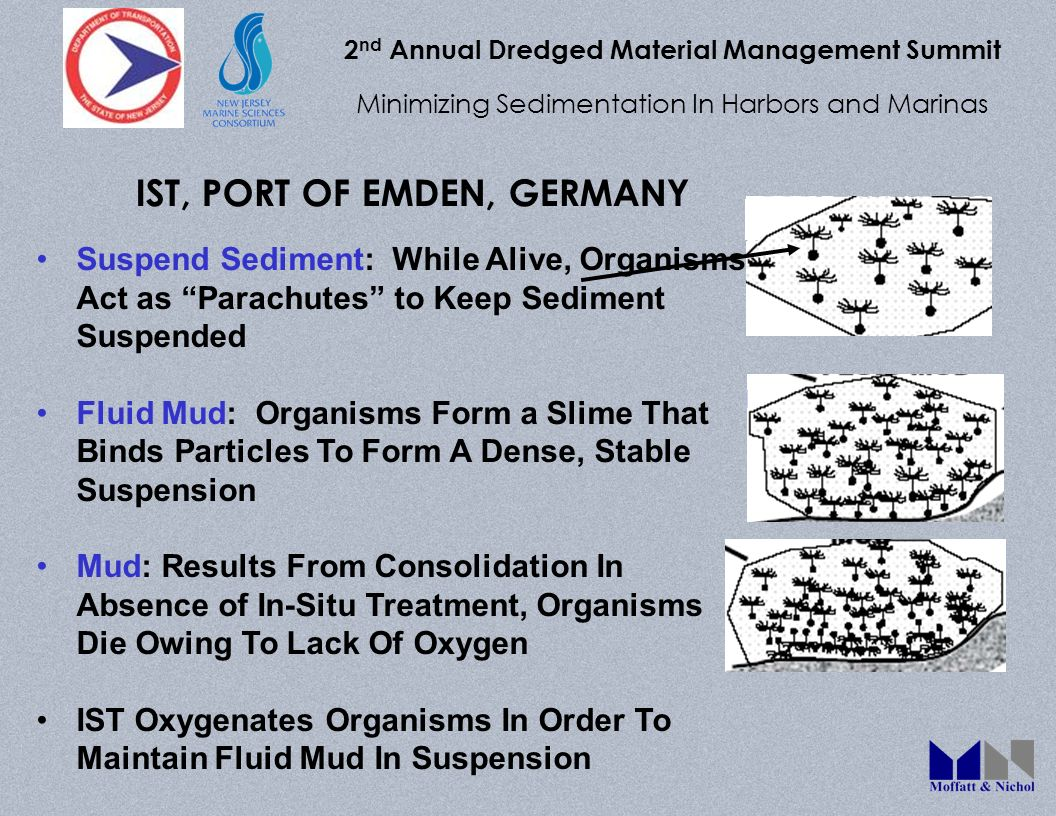 2 nd Annual Dredged Material Management Summit Minimizing Sedimentation In Harbors and Marinas IST, PORT OF EMDEN, GERMANY Suspend Sediment: While Ali