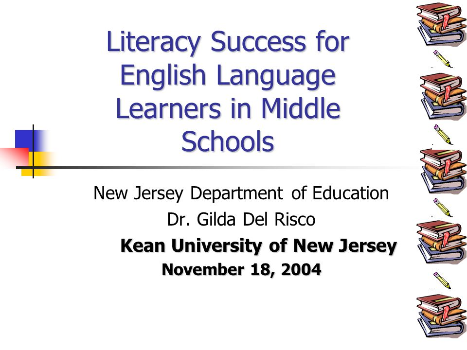 New Jersey Department of Education Dr.