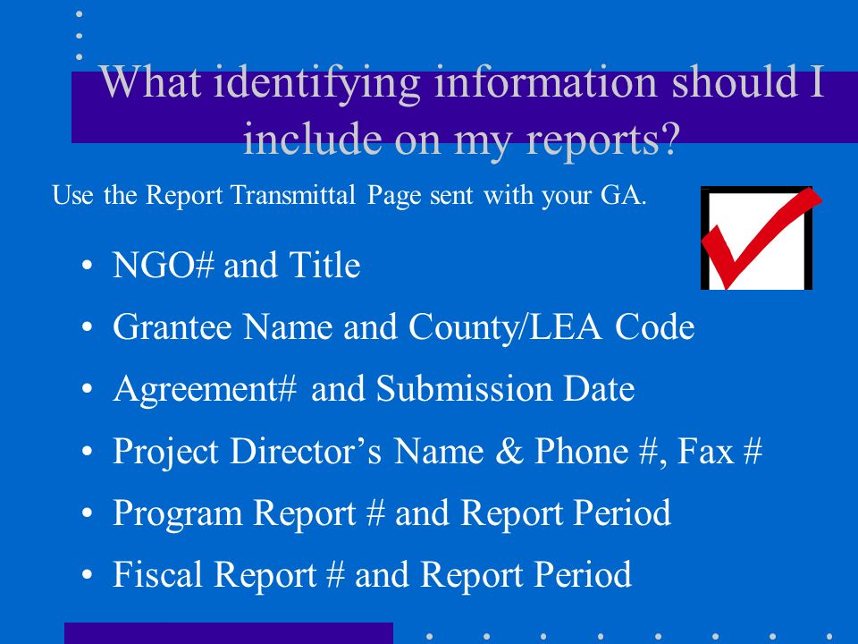 How do I complete fiscal reports? Complete all required information on the Expenditure Report form, which is page 5 of your grant agreement. See the M