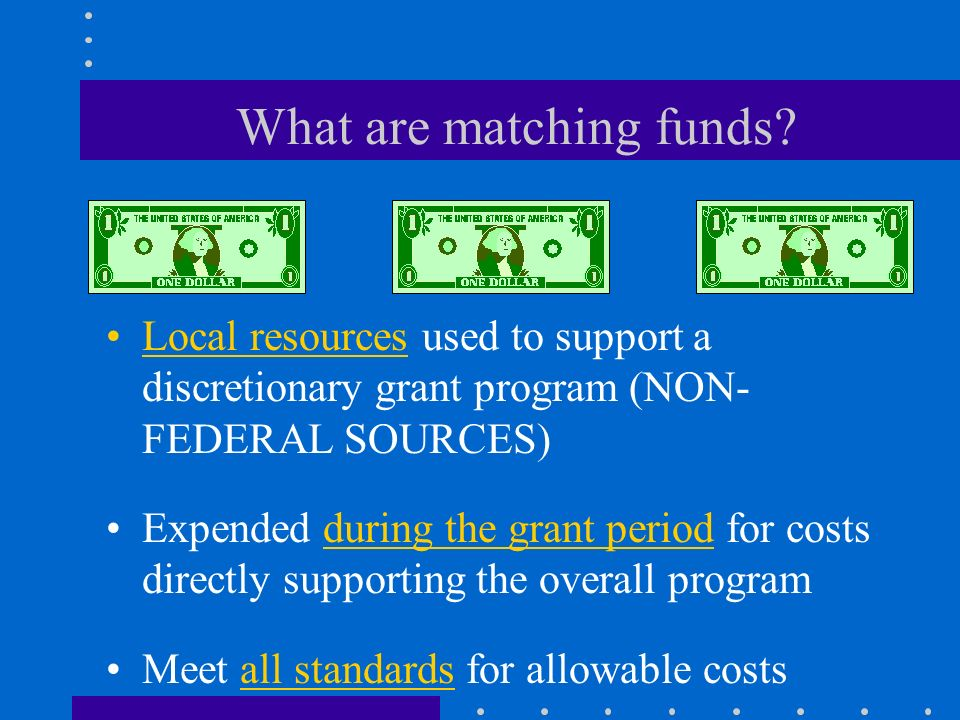 Special Considerations Matching Funds Program Income Non-Public Schools