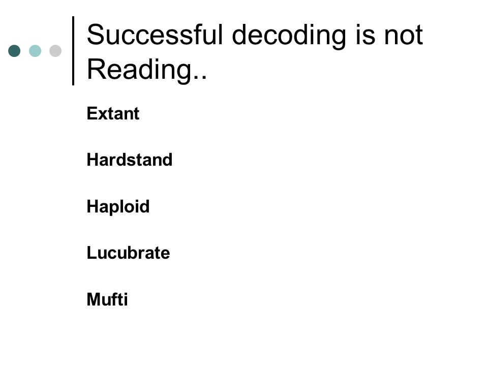 Successful decoding is not Reading.. Extant Hardstand Haploid Lucubrate Mufti