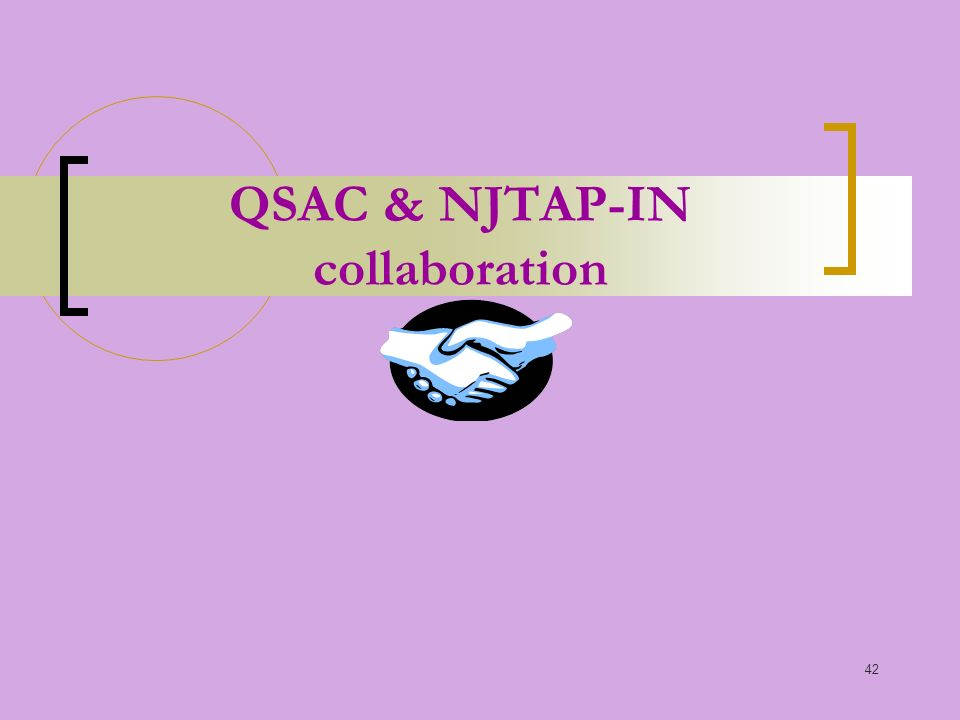 42 QSAC & NJTAP-IN collaboration