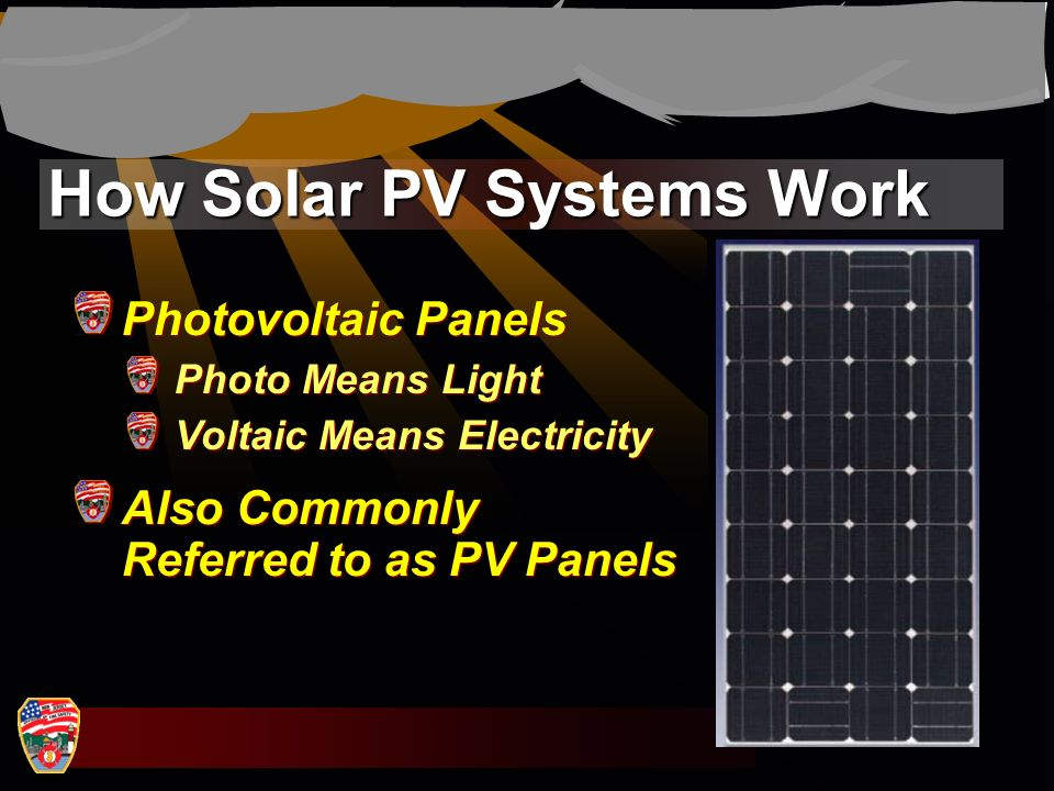 How Solar PV Systems Work Photovoltaic Panels Photo Means Light Voltaic Means Electricity Also Commonly Referred to as PV Panels Photovoltaic Panels P