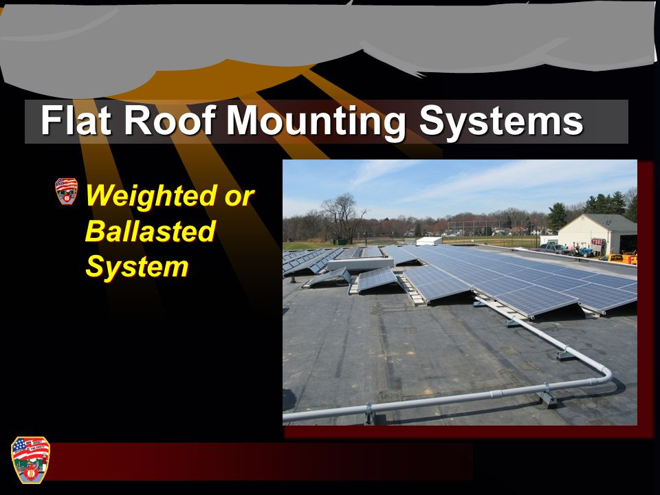 Flat Roof Mounting Systems Weighted or Ballasted System