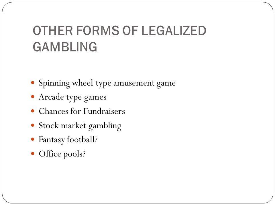 Illegal Gambling Sports Betting Internet Gambling First Internet Gambling site – 1995 Over 2,000 Gambling sites – 2005 1,100 Casino Gambling sites 700 Sports Gambling sites 200 + Poker Gambling sites Estimated revenue – 2006 - $12 billion Others