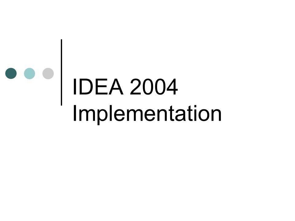 IDEA 2004 Implementation