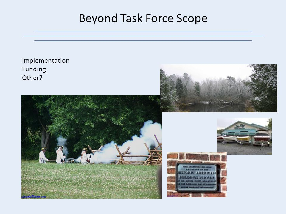 Beyond Task Force Scope Implementation Funding Other