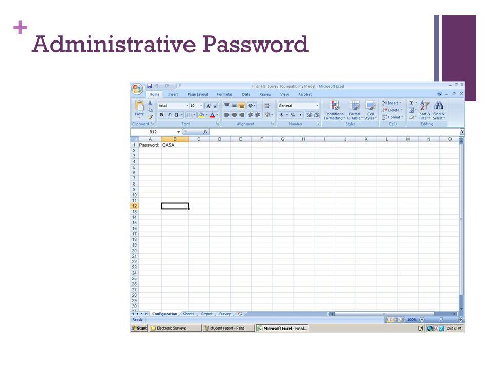 + Administrative Password