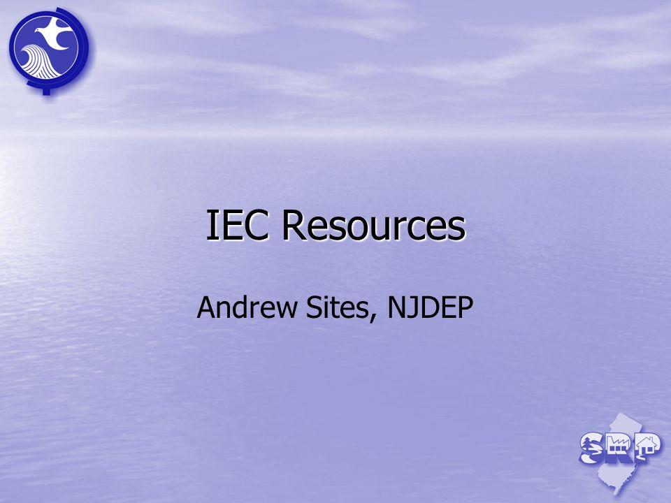IEC Resources Andrew Sites, NJDEP