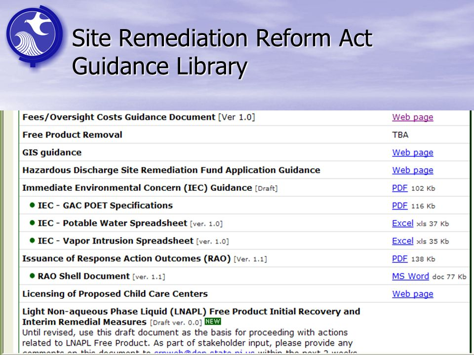 41 Site Remediation Reform Act Guidance Library