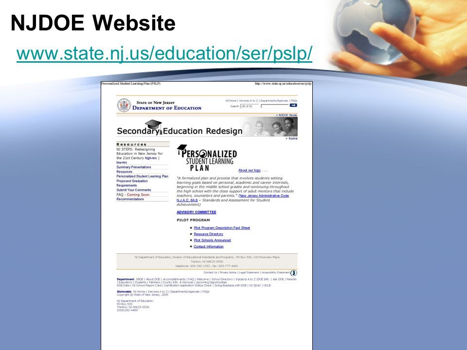 NJDOE Website