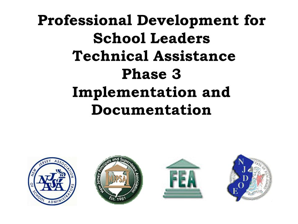 Professional Development for School Leaders Technical Assistance Phase 3 Implementation and Documentation