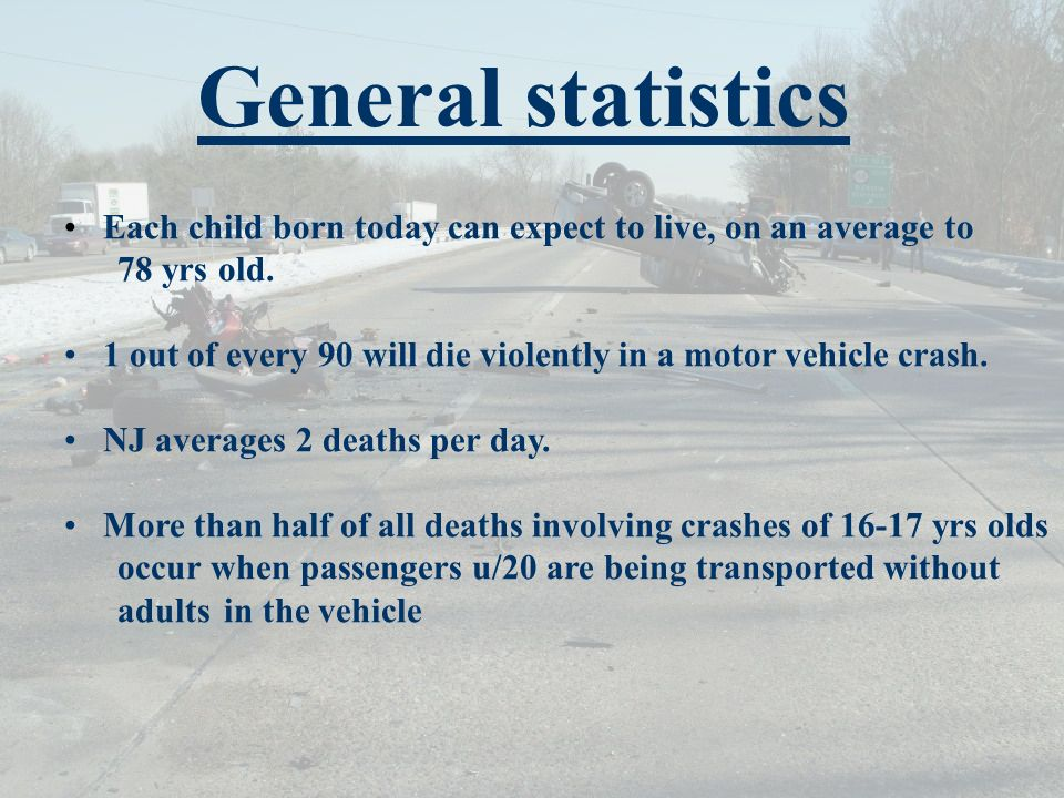 General statistics Each child born today can expect to live, on an average to 78 yrs old.