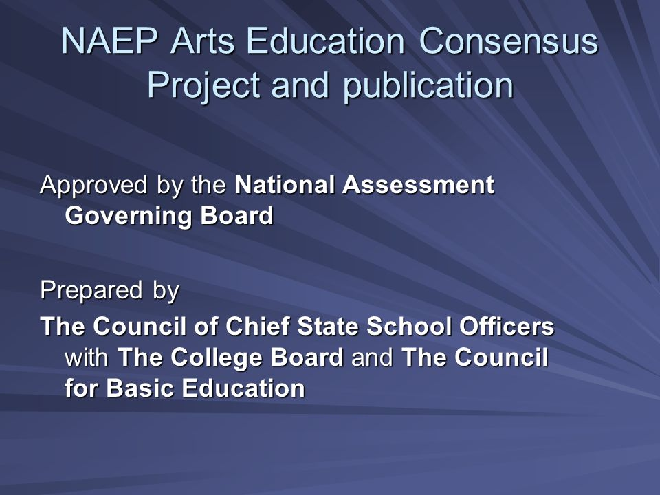 Guidelines for Arts Assessments 1.