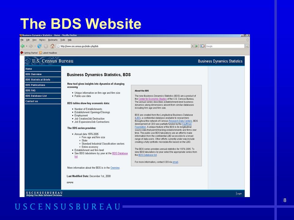 8 The BDS Website