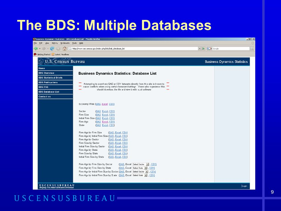 9 The BDS: Multiple Databases