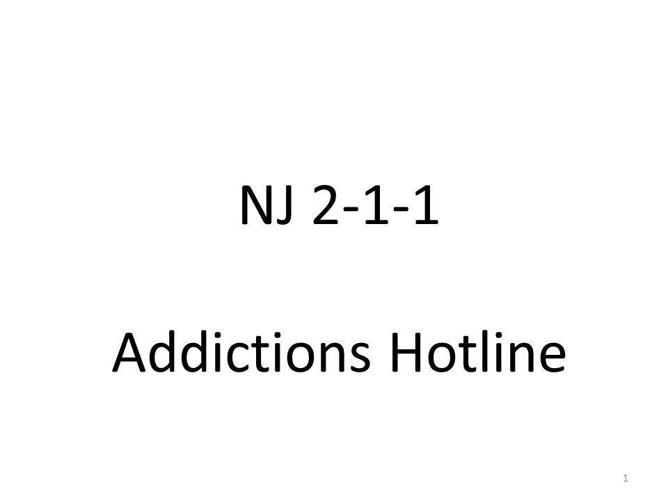 NJ 2-1-1 Addictions Hotline 1