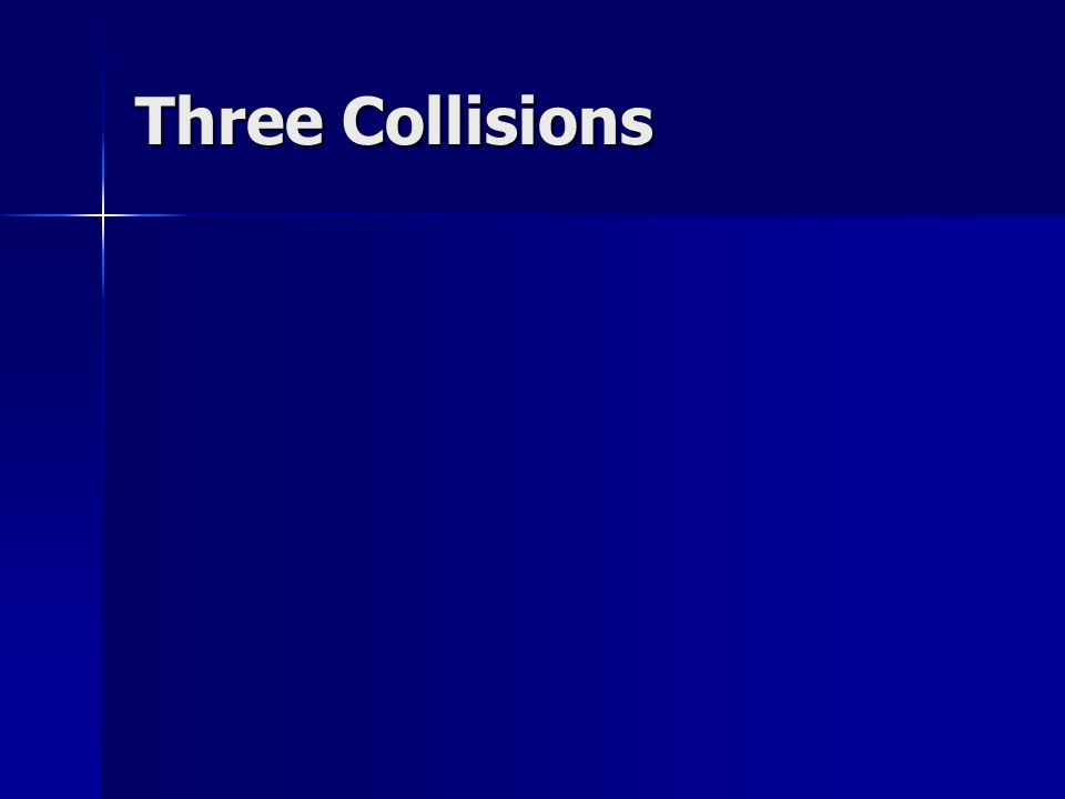 Three Collisions