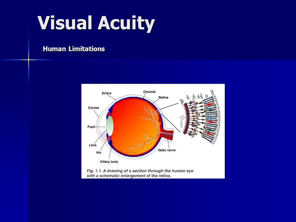 Visual Acuity Human Limitations