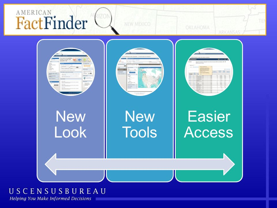 New Look New Tools Easier Access