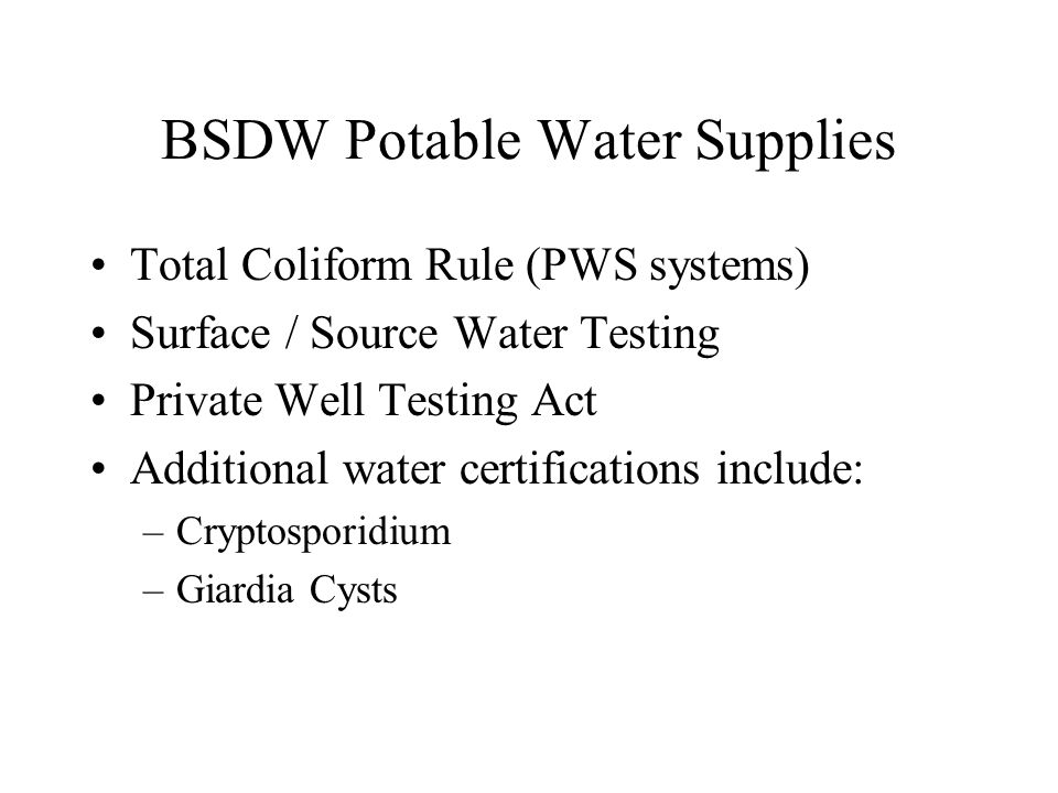 NJPDES Wastewater Monitoring in Support of Permit Requirements Fecal Coliform Enterococci / Fecal Streptococci Concurrent Monitoring