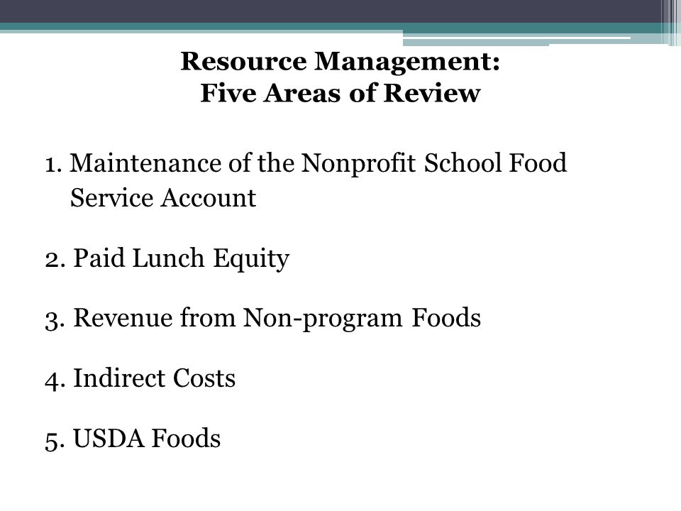 Indirect Costs Off-Site Assessment Tool Questions Results Were indirect costs charged to the SFAs nonprofit school food service account.