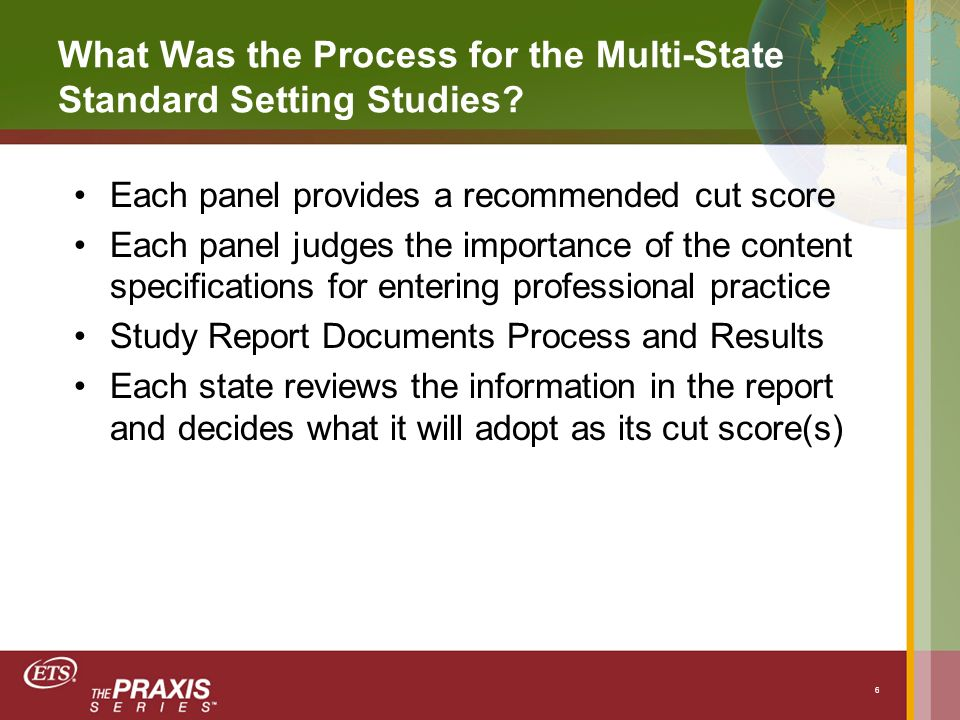 What Was the Process for the Multi-State Standard Setting Studies.