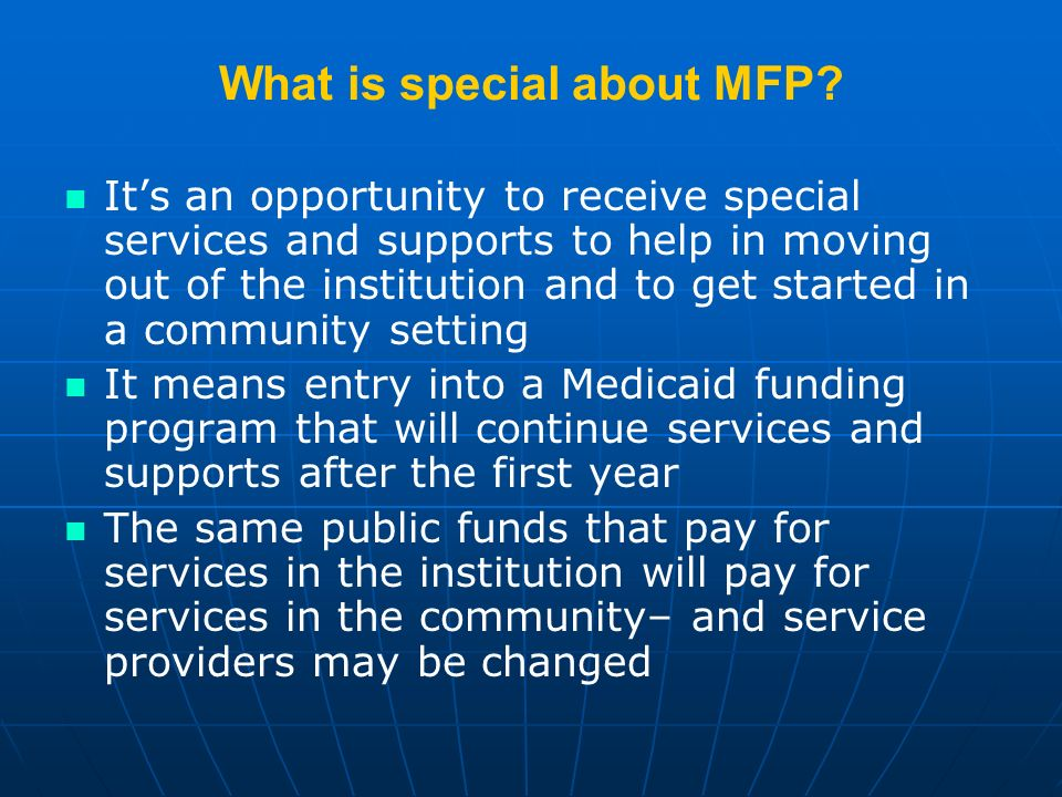 What is special about MFP.