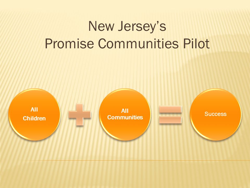 New Jerseys Promise Communities Pilot All Children All Communities Success