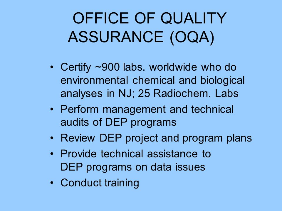 Laboratory certification ensures that the laboratory is capable of analyzing the sample and obtaining quality data.