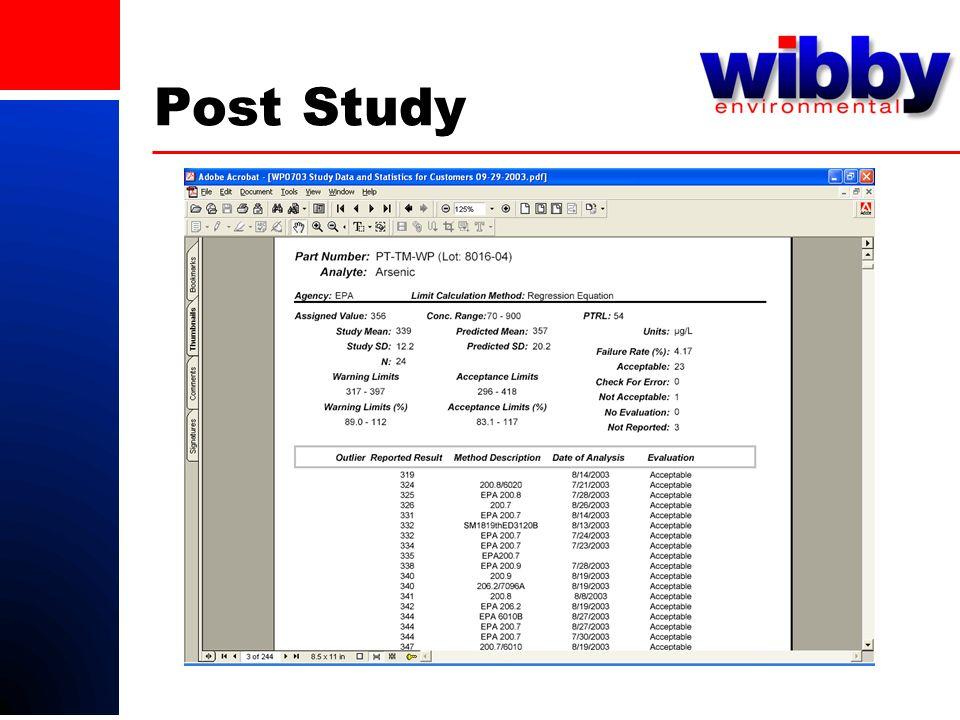 Post Study