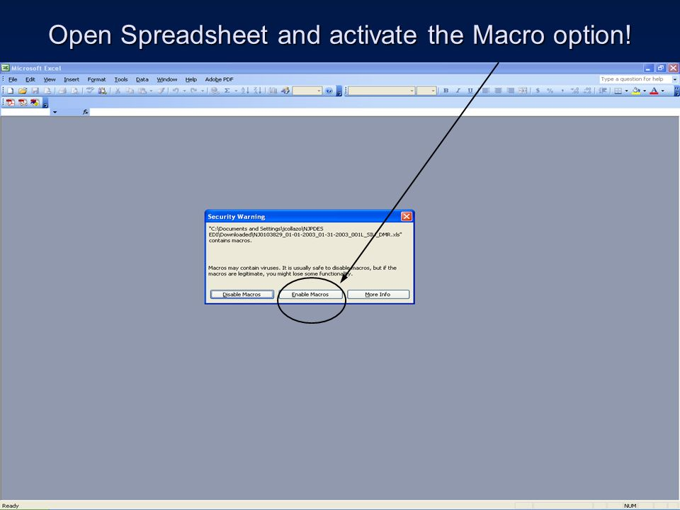 Open Spreadsheet and activate the Macro option!
