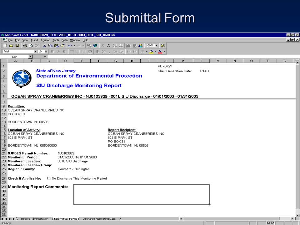 Submittal Form