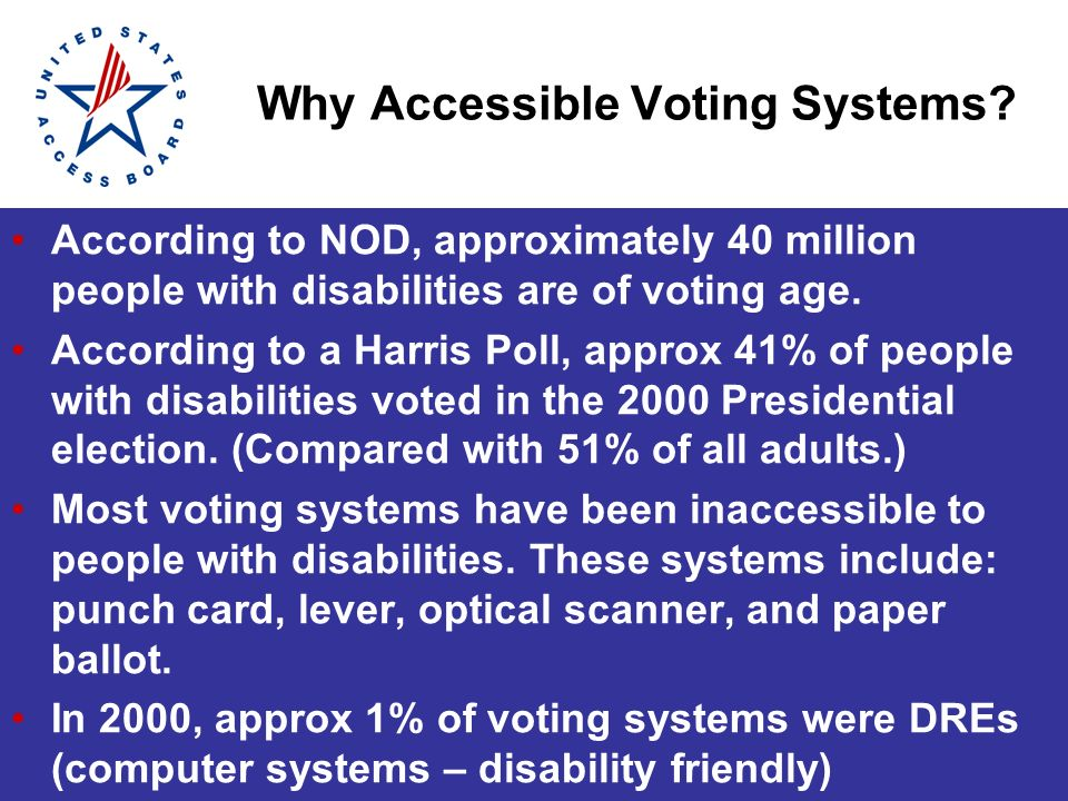 Why Accessible Voting Systems.