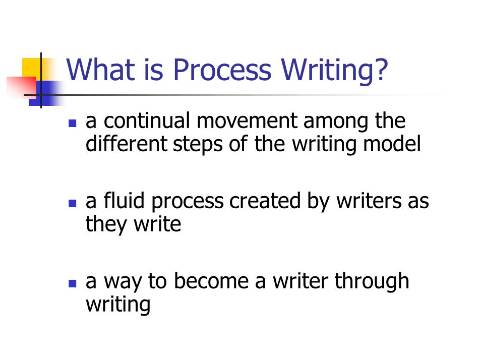 What is Process Writing.