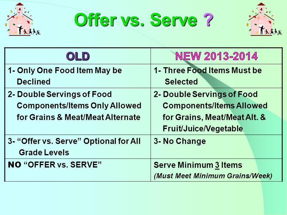 Offer vs. Serve .