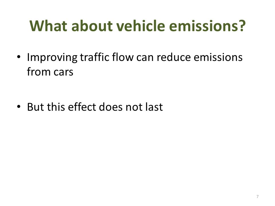 What about vehicle emissions.