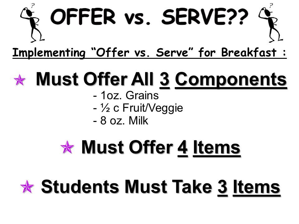 Implementing Offer vs.