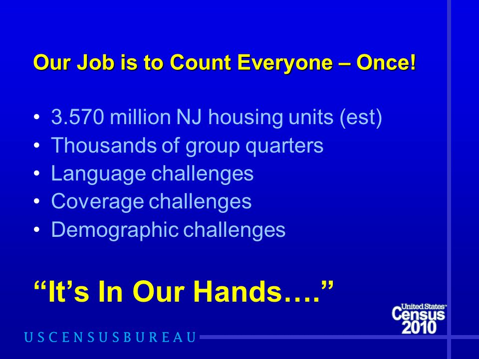 Our Job is to Count Everyone – Once.