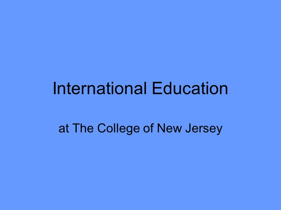 International Education at The College of New Jersey